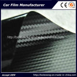 Черный автомобиля стикер винила волокна углерода 3D 1.52x30m с воздуха свободные Bubble Wrap автомобиля / автомобиля стикер