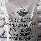 Chlorid des Batterie-Grad verwendetes wasserfreies Zink-98%Min