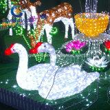Indicatore luminoso acrilico della decorazione del raggruppamento della casa del cigno del LED