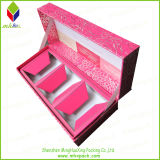 Natal Folding Rigid Paper Packaging Candle Box com Foil Stamping