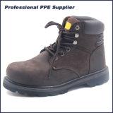 Zapato de seguridad de cuero del verdugón de Nubulk Goodyear con la punta de acero