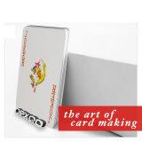 Tamanho feito sob encomenda plástico impresso RFID do PVC que joga o cartão do póquer/jogo
