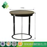Table basse chaude en bois de bâti en acier de meubles de salle de séjour de vente