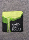Broderie de tissu tissée par mode faite sur commande d'étiquette de vêtement de logo des militaires 3D de promotion