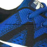 Bunte Dame Sneakers Running Sports Shoes mit strickendem Oberleder