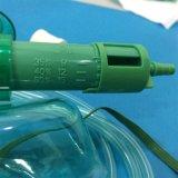 救急車の調節可能な鼻クリップが付いている専用使い捨て可能なマルチ出口マスク(緑か透過、すべてのタイプ)