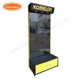 Изготовленный на заказ инструменты оборудования вися полку светлой коробки стойки индикации Pegboard металла с коробкой хранения