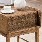 [سليد ووود] قهوة/[تا تبل] حديثة جانب طاولة يعيش غرفة أثاث لازم [ب01-17]