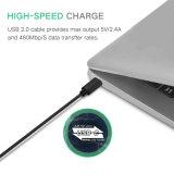 Tipo-c cable del 1m del cargador del USB del teléfono móvil para Huawei