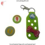 Etiquetas e Keychain da borracha do PVC para a promoção (YH-RL060)