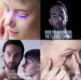 """Tendendo chicotes de piscamento interativos do olho do diodo emissor de luz do disco dos produtos para o partido """"sexy"""" da menina"""