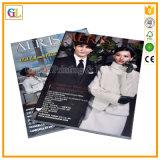 Service d'impression de magazines personnalisés à faible coût brillant