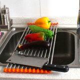 Les silicones de crémaillère d'assiette d'acier inoxydable enroulent la crémaillère de séchage d'assiette
