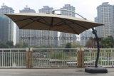 360 도 교체를 가진 최고 10 FT 정연한 알루미늄 오프셋 공가 우산, 옥외 거는 우산 및 수직 경사, 250 GSM UV 저항하는 폴리에스테, Tan