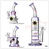 Hb King Glass Water Pipe 17,5 polegadas Silver-Gilt Glass Smoking Water Pipe