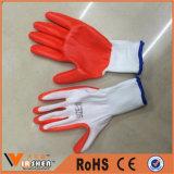 13 Anzeigeinstrument-Polyester-Zwischenlage-weiches GewebeInduatrail Nitril-überzogene Handschuhe