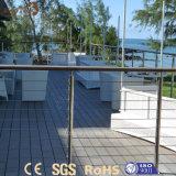Decking en plastique en bois extérieur imperméable à l'eau du composé WPC de modèle moderne
