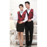 Uniforme uniforme de serveur de chef de polyester d'hôtel avec le tablier