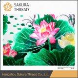Pintura de suspensão do bordado da flor do presente com cenário para equipar Home
