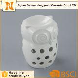 個人化された白い陶磁器のフクロウのワックスの線香立て