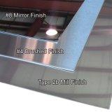 Placa inoxidable de las hojas de acero del espejo de SUS304 8k