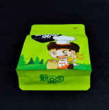 Flache Unterseiten-Fastfood- Beutel-Aluminiumfolie-Reißverschluss-Verschluss-Kaffee-Beutel 3 Schicht-Material lamellierte aufrechte Nahrungsmittelplastiktasche