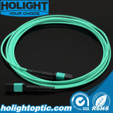 MPO al cable óptico de la corrección de fibra de MPO Om3