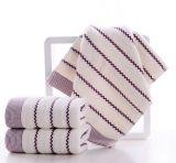 Toalla absorbente suave de la colada de la cara de la toalla de la ondulación del agua del algodón