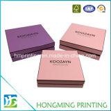 Boîte-cadeau faite sur commande de luxe de carton de papier de logo