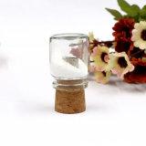 De in het groot Houten Gift van Eco van de Aandrijving van de Flits van de Fles USB van de Afwijking van het Glas