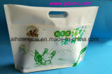 Unterer flacher Plastikreißverschluss-Aluminiumfolie-Nahrungsmittelbeutel