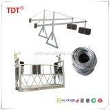 Gondole d'échafaudage de berceau d'accès de plate-forme suspendue par acier galvanisé à chaud de la CE Zlp630