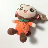 Novo tipo encantador brinquedo macio enchido feliz Keychain do macaco do luxuoso