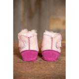 2-Tone in Australia pelle di pecora merino Bottini del bambino Slipper Booties
