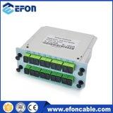GPON ADSL 1 * 16 PLC Splitter 144 Core Splitter con cierre