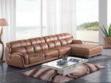 Sofá moderno del cuero de los muebles de la sala de estar del Recliner (UL-NS050)