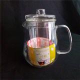يفجّر زجاجيّة شاي إناء مع مقبض وغطاء, 900 [مل]