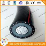 Mv-90, XLPE isolado, PVC Jacketed, 5 quilovolts 8kv 15 quilovolt 25kv 35 quilovolts, a fita de cobre protegeu 100% 133% cabos nivelados da isolação