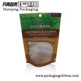 Sacs de empaquetage Y1710 de papier d'aluminium de Danqing de Doypack de tirette debout en plastique faite sur commande de poche