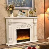 Européen simple découpant les meubles électriques d'hôtel de cheminée de chauffage blanc (337B)