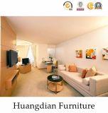 나무로 되는 단순한 설계 아파트 침실 가구 (HD611)