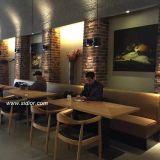 테이블과 의자 세트를 위한 카페테리아에 의하여 사용되는 나무로 되는 대중음식점 가구