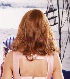 強打を用いる中型の波状の耐熱性総合的な毛のかつら