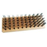 Balai de fil d'acier plat professionnel avec le dos Cepillos de hêtre