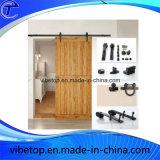 安く贅沢な純木のドアの内部の滑走の納屋の大戸のハードウェア