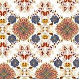 カスタムホーム織物の青い海のデジタルによって印刷される絹ファブリック