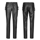 Les hommes d'automne de l'éloge K-301 punks les plus neufs amincissent les pantalons en cuir de chasse
