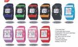 Plastikfall-Gummiband-Schweizer Bewegungs-Vierecks-verschiedene Farben-Kursteilnehmer-Uhren