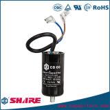 Condensador electrolítico de aluminio del condensador de comienzo del motor CD60 CD60