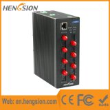 8 de vezel en 2 SFP de Haven beheerden Industriële Schakelaar Ethernet